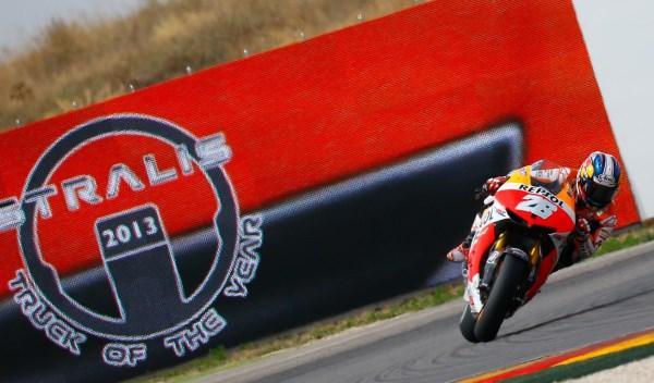 Dani Pedrosa, en el Gran Premio de Aragón 2013