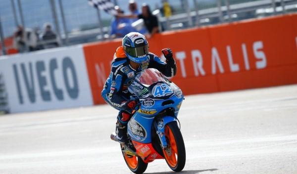 Álex Rins, ganador del GP de Aragón de Moto3.