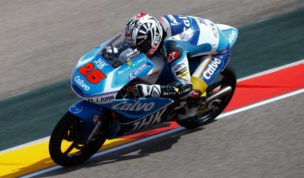 Maverick Viñales, segundo en el Gran Premio de Aragón de Moto3.