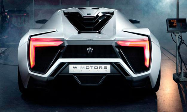 W Motors Lykan Hypersport trasera