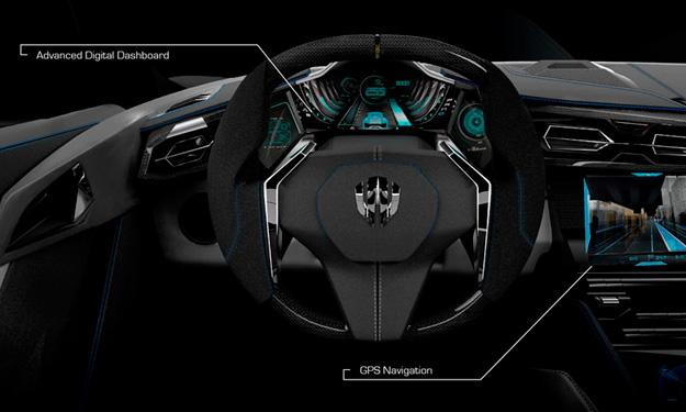 W Motors Lykan Hypersport salpicadero