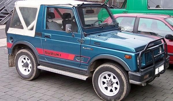 Los 13 coches más terroríficos para concudir Suzuki Samurai