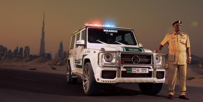 El nuevo coche de la policía de Dubai