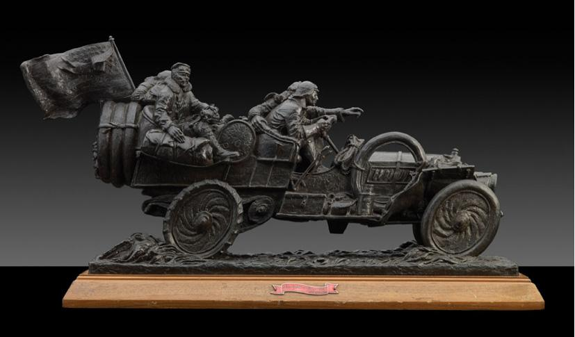 Arte sobre ruedas a subasta: escultura Stanley Wallnass
