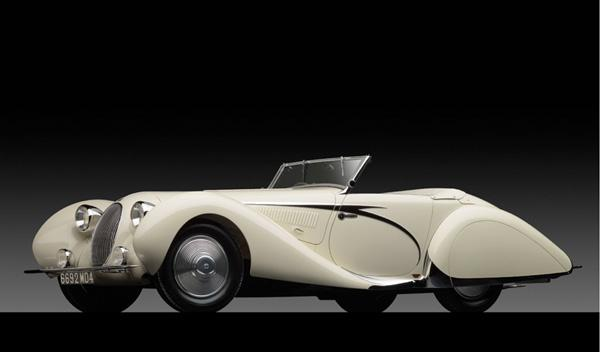 El Talbot-Lago T150-C SS Teardrop Cabriolet by Figoni et Falaschi de 1938