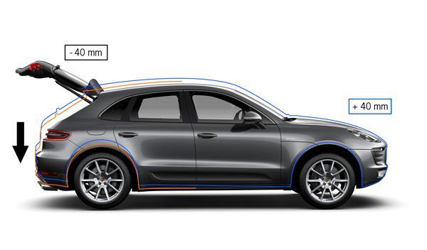 Si lleva suspensión neumática, el Porsche Macan puede elevarse 40 mm