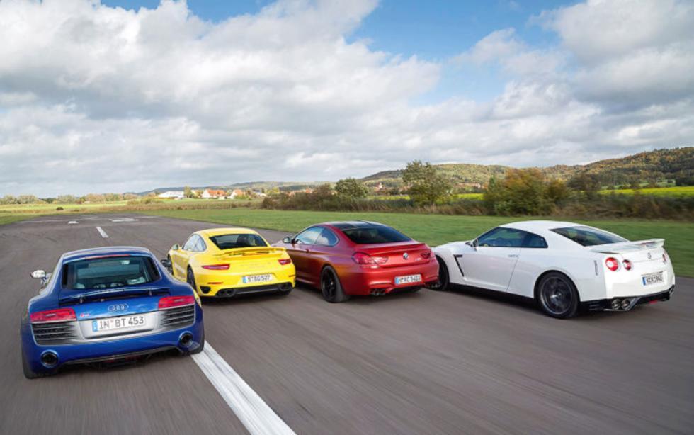 Comparativa Porsche 911 turbo, traseras