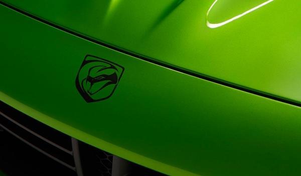 El SRT Viper Stryker Green del Salón de Detroit 2014, logo