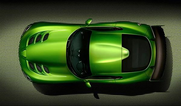 El SRT Viper Stryker Green del Salón de Detroit 2014 techo