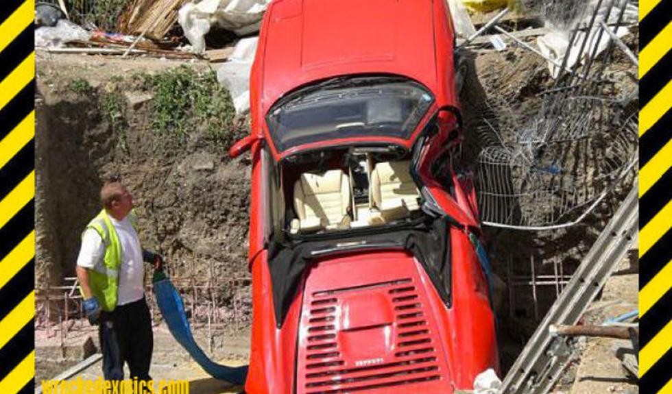 Ferrari volcado