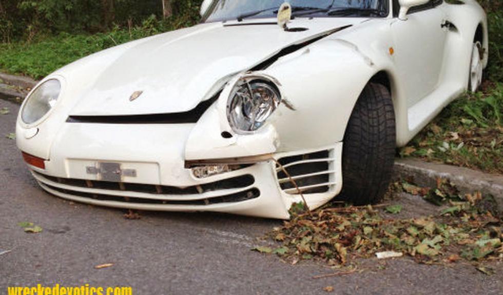 Porsche 959 estrellado