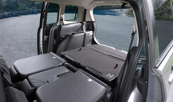 Mazda5 CRTD: Volumen máximo de 1.485 litros