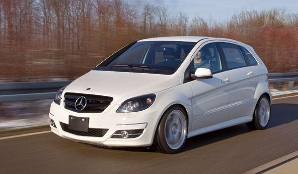 Mercedes B 55 tres cuartos
