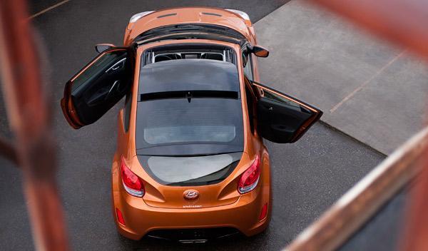 Hyundai Veloster desde arriba