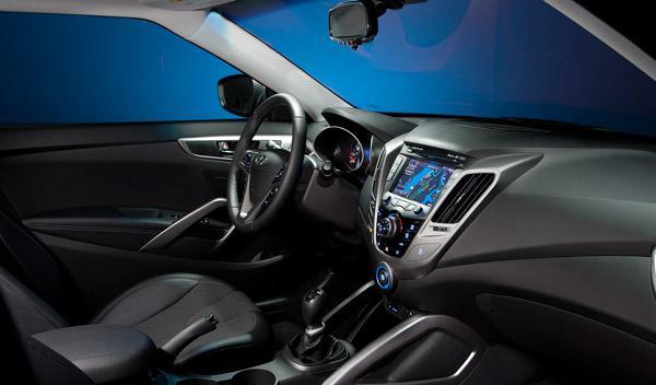Interior del Hyundai Veloster