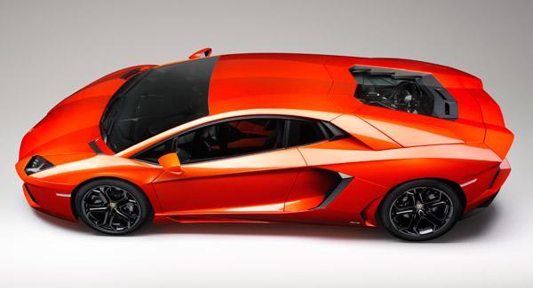 Lamborghini Aventador desde arriba
