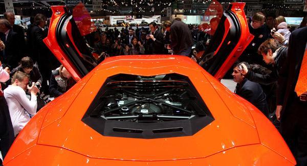 Motor del Lamborhini Aventador