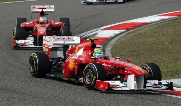 Felipe Massa y Fernando Alonso-GP China