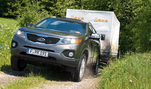delantera Kia Sorento remolque SUV todoterreno diésel
