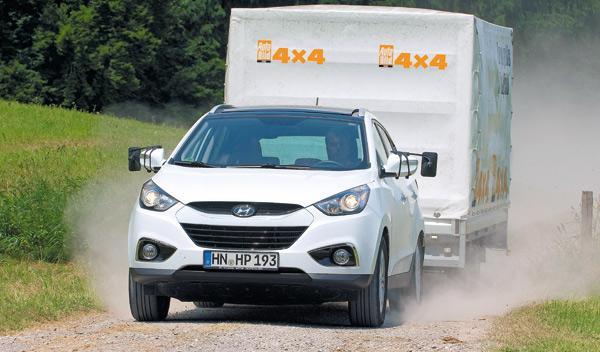 Hyundai ix35 todoterreno remolque delantera