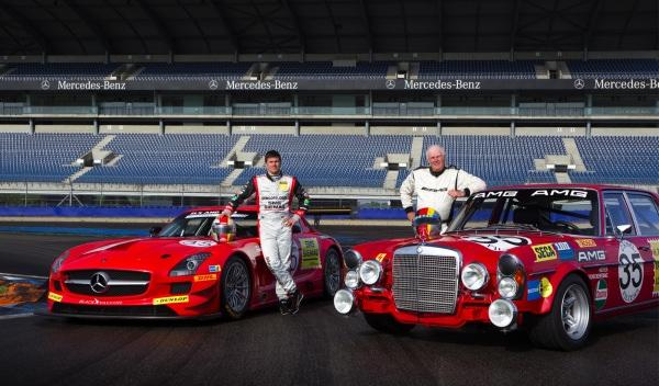 Mercedes SLS AMG GT3 Mercedes 300 SEL 6.8 AMG  Kenneth Heyer Hans Heyer