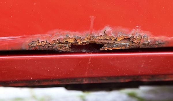 Jeep Cherocke sport todoterreno corrosión