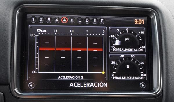 Nissan GT-R pantalla predefinia
