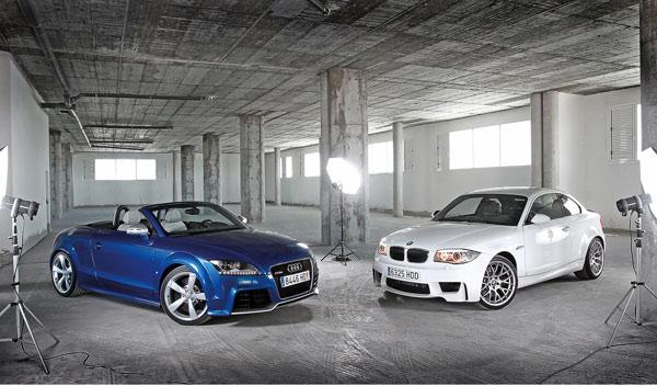 audi-tt-rs-bmw-serie-1-m-coupe-frontal