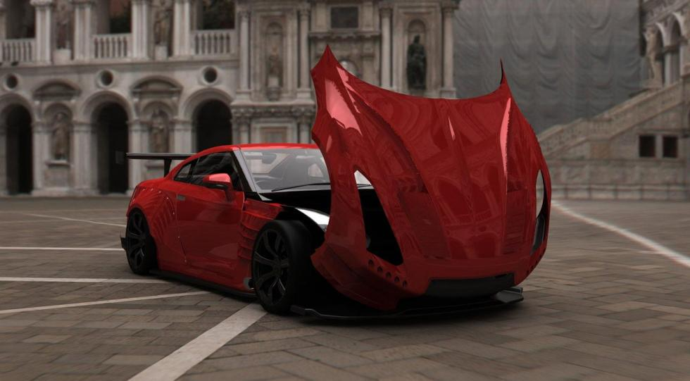 Nissan GT-R BenSopra frontal capó