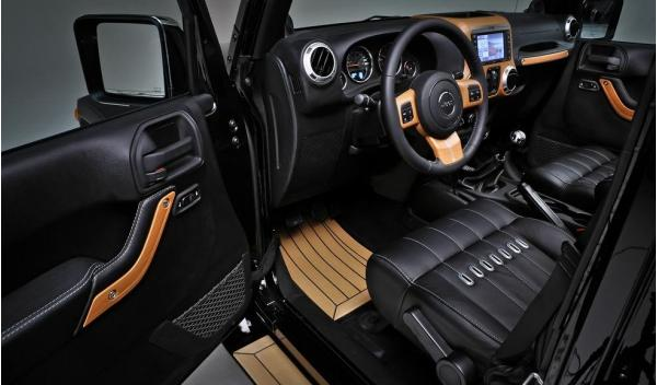 Jeep Wrangler Unlimited Nautic Concept Interior