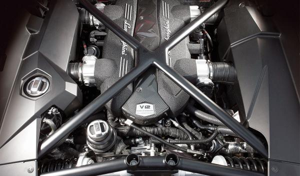 Motor del Lamborghini Aventador
