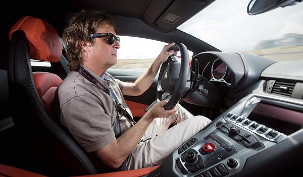Lamborghini Aventador interior lateral