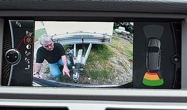BMW X5 remolque cámara