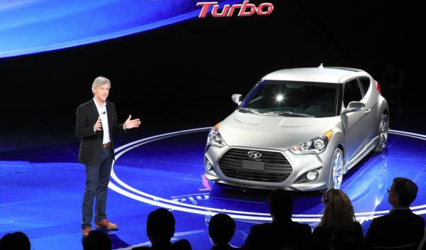 Hyundai Veloster Turbo frontal  - Salón de Detroit 2012