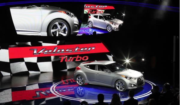 Hyundai Veloster Turbo lateral - Salón de Detroit 2012