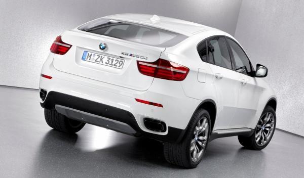 BMW X6 M50d trasera 3/4