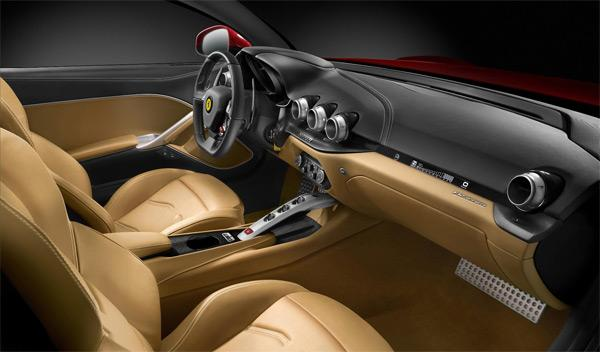 Ferrari F12berlinetta interior - Salón de Ginebra 2012