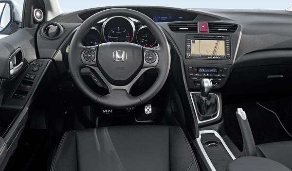 Interior del Honda Civic 2.2 i-DTEC
