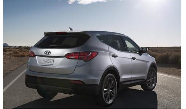 Hyundai Santa Fe 2012 trasera