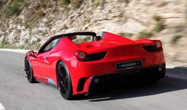 Trasera del Mansory Ferrari 458 Spider Monaco Edition