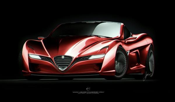 Delantera del Alfa Romeo C12 GTS Concept