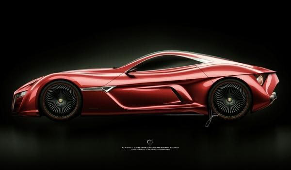 lateral del Alfa Romeo C12 GTS Concept