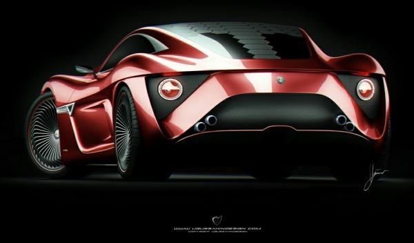 Trasera del Alfa Romeo C12 GTS Concept