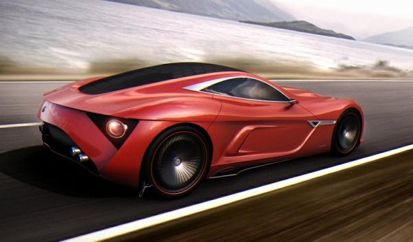 Alfa Romeo C12 GTS Concept en movimiento
