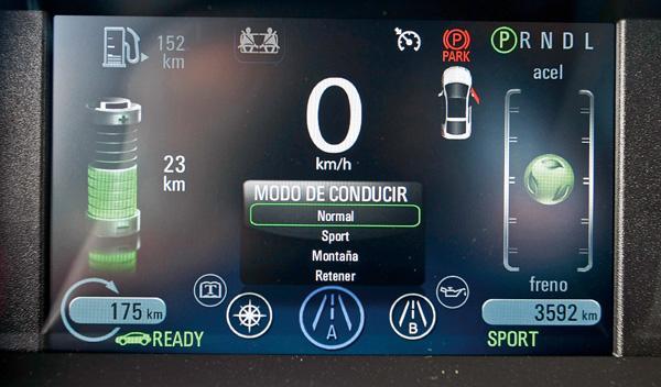 Monitor del Chevrolet Volt