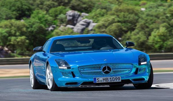 Mercedes SLS AMG Coupé Electric Drive frontal