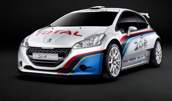 Frontal del Peugeot 208 R5 Rally car