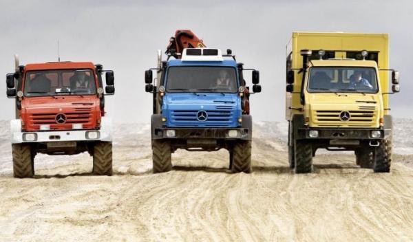 Nuevo Mercedes Unimog U5000, versiones