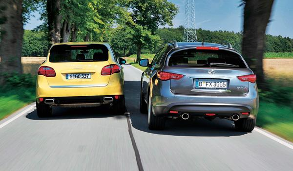 Zaga del Porsche Cayenne Diesel y el Infiniti FX30d