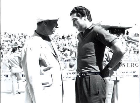 Alfonso de portago y Juan Fangio gp cuba 1957